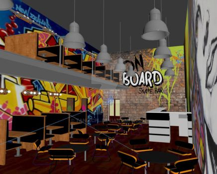 On board skate bar - 3D mockup by taniacpl