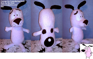 Courage the Cowardly Dog Plush by Yakkomia