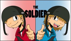 The Soldier- RED and BLU by s0s2