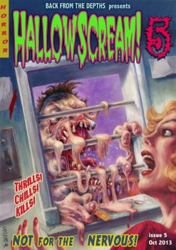 HALLOWSCREAM 5 horror comic cover  by TheGurch