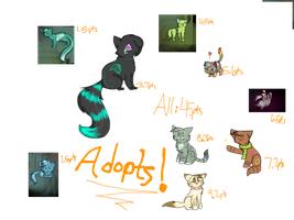 Adoptables **OPEN!** by Sia-Kitty