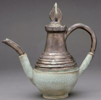 old tall tea pot by cl2007