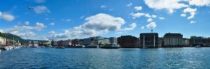 Panorama Port Bergen by Bull04