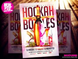 Hookah and Bottles Flyer Template PSD by Industrykidz