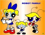 Robot Family by Coffgirl