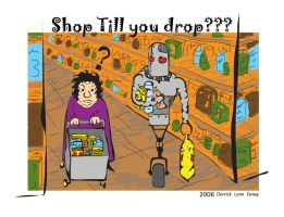 Robot at A Grocery Store by DerrickEwing