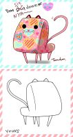 Cat chair with Pantie balloon by Teruchan