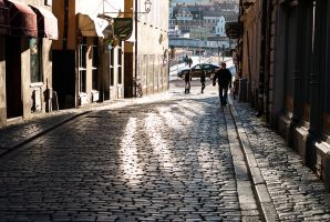 Fall in Stockholm Old Town by Hwergelmer