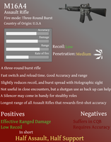 M16A4 Survival Weapon Guides by DarkfireMetal