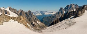 La Vallee Blanche by bongaloid
