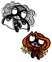 Powerpuff Style Magma and Ghost by InkRose98