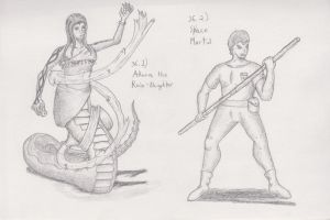 Figure 36 - Akora Rain-Daugther and Space Martial by TheHiddenElephant