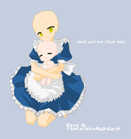Maid and her Plush base by TheGoldenMagikarp