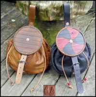 Viking Shield Pouches by Half-Goat