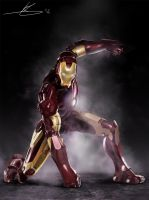 Iron Man painting by ResVoCoder