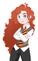 Disney in Hogwarts: Merida [Digital revamp] by Decapitated-Kittens