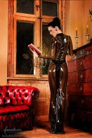 ScaryMissMary Latex-Gown (Black-Smoky-Back) by AmatorisLatexCouture