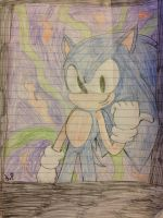 My New Sonic Drawing by SonicRingBomb