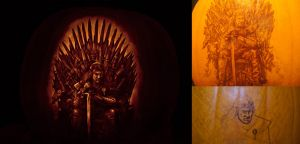 Game of Thrones pumpkin process by qw3323