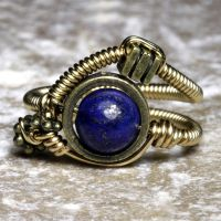 Lapis Lazuli Steampunk Ring by CatherinetteRings
