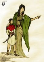 Tanglewood Mother and Child by Tebius