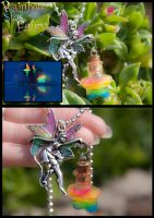 Fairy and Glowing Rainbow Star Pendant by IvrinielsArtNCosplay