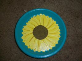 Sunflower Pot Plate by QueenAliceOfAwesome