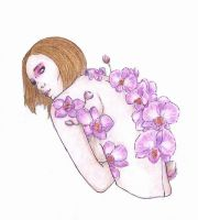 orchid drawing 5 by remkop93