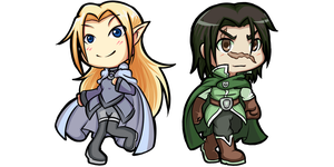 Chibi Commission: Jealith and freyki by L421