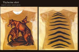 thylacine shirt AGAIN by pookyhorse