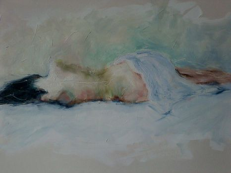 Laying girl by rossparsons