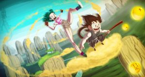 A ride with Son Goku by animatorlu