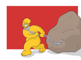 H for Homer Simpsons by Volador-N7