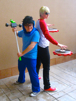 John and Dave Cosplay by sparr0