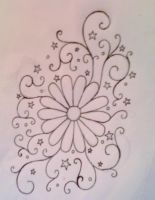 Daisy Swirl Tattoo Design by average-sensation