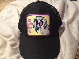 I'm with the DJ. Vinyl Scratch Baseball Hat by x-Flamerunner-x