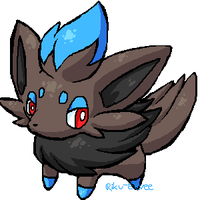 Shiny Zorua by Riku-Eevee