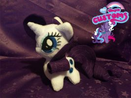Chibi Rarity plushie by angel99percent