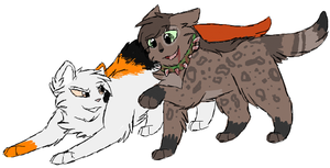 Maple and Hyena by CascadingSerenity