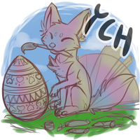 Easter YCH (Foxfan) (Open for 1000pnt) by StrayTheMushroomKid
