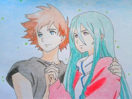 Eureka Seven -The Movie- -Renton and Eureka- by SacrificatoEureka