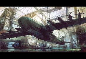 Hyper G One - hangar by Hideyoshi