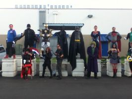 Cosplayers in the parking lot 1 by Viper-X27