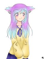 Lineart and Colouring Practice: School Girl by xXdarkXmageXx