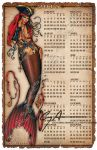 2015 11x17 MERMAID WALL CALENDAR by badass-artist