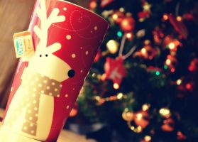 reindeer, tea and Christmas tree by MadelinePL