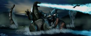 Godzilla vs Deutalios (Deleted Scene) by Fourgreen