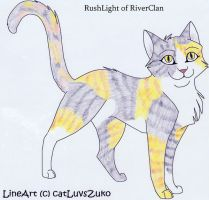 RushLight of RiverClan by Seri-goyle
