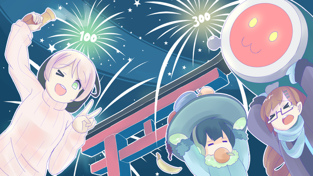 Happy Osu New Year! by Phibonnachee