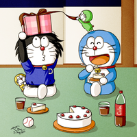 HBD Doraemon+Kuroemon - 2012 by Kikansha